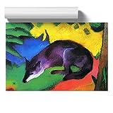BIG Box Art Poster Kunstdruck Franz Marc The Wolf - Heimdekoration für Küche, Wohnzimmer, Esszimmer, Schlafzimmer, Büro, Flur, Mehrfarbig, A3 (42 x 29,7 cm)