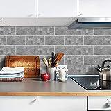 SXXDERTY Fliesenaufkleber Badezimmer 20x10cm 27 Stück graue Zementfliesen, Wandaufkleber Selbstklebende Küchendekoration, 9 Stück