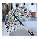 JISHIYU - Q Kinder-Regenschirm, transparent, kuppelförmig, winddicht, automatisches Öffnen, niedlicher Stockschirm (kleiner Vogel)