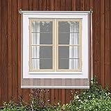 YXX-Rollo Verdunklungsrollo Außen Terrasse Balkon Fenster Tür Regensichere Durchsichtige Rollos, Plastik Partitionen Nieschutz Rollläden, Innen- / Außenmontage (Size : 120cm × 200cm(47' × 78.7'))