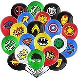 32 Stück Superhero Geburtstagsdekorationen, JPYH 12 Zoll Latex Luftballons mit Comic-Bilder und Slogans, Happy Birthday dekoration, Avengers Party dekorationen