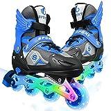 Ctrunit Verstellbare Inline-Skates mit Allen Beleuchteten Rädern (Blau Schwarz, Large 38-41)