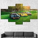 AWER Leinwandbild 5 tlg Mural Foto Motiv auf Künstler P1 GTR Sportwagen Leinwand Wandbild Wohnzimmer Wanddekoration 5 Stück Poster