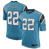 JesUsAvila McC.aff-rey #22 American Football T-Shirts NFL Rugby Jersey Outdoor Sportbekleidung für Herren Casual Kleidung Schweiß/Blau/S
