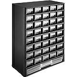 TecTake 402873 - Sortimentskasten, 41 transparente Schubfächer, Vorrichtungen zur Wandmontag