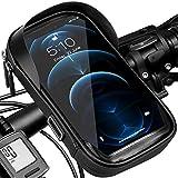Fahrrad Handyhalterung Wasserdicht Handy Fahrradhalterung Fahrradtasche Lenker, Halterung Fahrradlenker Motorrad Handyhalter Lenkertasche Rahmentasche Berührbarer Drehbarem für 5.5 - 7 Zoll Smartphone