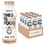 YFood Schokolade | Laktose- und glutenfreier Nahrungsersatz | 33g Protein, 26 Vitamine und Mineralstoffe | Leckere Astronautennahrung - 25% des Kalorienbedarfs | Trinkmahlzeit, 12 x 500 ml