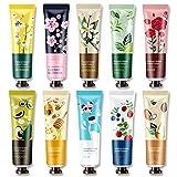 Hanwuo Handcremes, 10 Stück feuchtigkeitsspendende Anti-Dry- und Anti-rissige Handcreme, Winter-Hautpflege, Blume, Fruchtduft