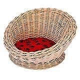Getrichar Beds Pet Handgestrickter Katzenkorb, Nest für Katzen, bequem, abnehmbare und waschbare Matte, Hundehütte (Farbe: Braun) (Farbe: Braun)