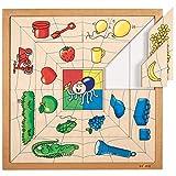 Educo | Spinnen Sortierpuzzle - Farben | Lehrmaterialien Maßstäbe & Waagen | Mathematik - Geometrie - Sortieren und Reihen | Ab 72 Monate | Bis 144 Monate