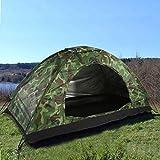 Camping Zelt Kompaktes Kuppelzelt Tragbares Tarnzelt Winddicht und wasserdicht Leichtgewicht Geeignet für Wanderungen im Freien Camping Backpacking Survival Travel (1 Person)