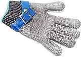 XMHL Stahldrahthandschuhe Schnittfeste Handschuhe, Edelstahldraht und Metalldrahtgeflecht Metzgerhandschuhe, geeignet für Linke und rechte Hand