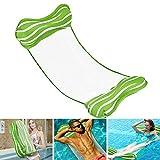 Aiglam Wasser Hängematte, Pool-Hängematte 4-in-1-luftmatratze Pool Erwachsene Pool Stuhl Aufblasbare Schwimmende Strand-Liege Für (Grün)