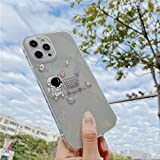 Transparente Astronauten-Handyhülle für iPhone 11 Pro Max 12 Mini XS Max X XR 7 8 Plus SE 2020 Lustige Raummalerei Soft Back Cover für iPhone 11 T4