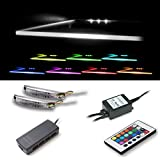 Vladon LED Clips für Glaskantenbeleuchtung in RGB 2er Set