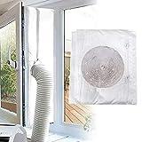 Locisne 4M Universal Window Seal, Luftwechselschutz mit Reißverschluss für tragbare Wäschetrockner mobile Klimaanlagen, Heißluftstopp,keine Bohrlö