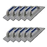 10er Set DEWEPRO® WDVS + Porenbeton Schleifbrett - Raspelbrett mit verzinktem Stahlblech-Raspelbelag - 270x130mm - Egalisierungsbrett - Schleifer