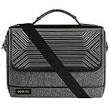 DOMISO 17 Zoll Wasserdicht Laptop Tasche Aktentasche Schultertasche Notebooktasche Business für 17-17.3' Notebook/Dell/Lenovo/Acer/HP/MSI/ASUS, Schw