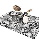 XIAOFEI Trommelteppich füR Bass Drum, rutschfeste Schlagzeugteppich, Verdickt Drum Rug, Schallschutzmatte, füR E-Drum-Kits Bass Drum Snare und Andere rutschfeste Teppiche Im Kernsatz