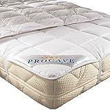 PROCAVE weiches Unterbett aus 100% Baumwolle, atmungsaktiver Matratzen-Schoner, hochwertige Matratzentopper, Matratzen-Auflage 100x200 cm