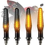 CCAUTOVIE LED Blinker Motorrad E Geprüft Universal LED Blinker Tagfahrlicht Motorrad Blinker Motorrad LED Lauflicht Bernstein E24, 4 Stück