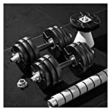 FOTGL Einstellbare Gewicht Hanteln, Hantel Barbell Kombination, Ergonomische Anti-Rutsch-Griff, Bodybuilding Krafttraining 20 kg / 10 kg × 2 (Paar)