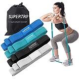Supertrip Lange Stoff Fitnessbänder Pull Up Band Loop Widerstandsbänder 4 Widerstandsstufen Tuch Fitnessbands Trainingsband für Crossfit, Yoga, Pilates für Männer und Frauen - 4er Set