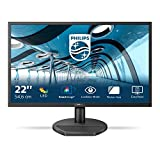 Philips 221S8LDAB - 22 Zoll FHD Monitor (1920x1080, 60 Hz, VGA, DVI, HDMI) schwarz