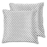 DYCBNESS Quadratisch Überwurf Kissenbezüge 2er Pack Mathe-Intelligenz-Themenmuster mit speziellem Zahlensymbol im minimalistischen Stil Kissenhülle Mit Reißverschluss für Sofa Schlafzimmer 55x55cm