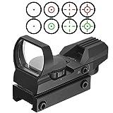 Red Dot Visier Sight Scope Leuchtpunktvisier Reflexvisier Reflex Sight Red Green mit Tactical 4 Reticles für 20mm/22mm Weaver oder Picatinny Railsysteme