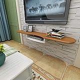 Sysyrqcer Wandmontierter TV-Schrank TV-Konsole Wandregal Floating Shelf TV-Stand-Set-Top-Box-Router-Lautsprecher-DVD-Player Speicherregal (Size : Black 140Cm)