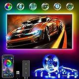 LED TV Hintergrundbeleuchtung, RGB LED Strip 4M für 45-75 Zoll Fernseher und PC, USB betrieben, Über App-Steuerung LED Streifen, Zur Musik Synchronisierte Smart Led Beleuchtung