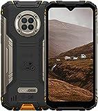 Outdoor Handy mit Nachtsicht, DOOGEE S96 Pro, 8GB + 128GB Helio G90, 48MP + 20MP Kamera, 6.22' UHD + 6350mAh + 4G Dual SIM Wasserdicht NFC GPS, Robustes Android Smartphone Ohne Vertrag(Orange)