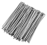 GardenMate 100 Erdanker VERZINKT aus Stahldraht 250mm lang, 25mm breit, Ø 4,1mm, Flacher Kopf - Für extrem Harte Böden