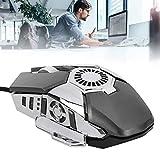 Gatuxe Gaming-Maus, Computer-Maus, 6 Tasten mit Lüfter für Laptop-Desktop-PC-PC Verwenden Sie Laptop-Zubehör(Grey, Pisa Leaning Tower Type)