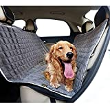 Hunde-Autositzbezug Wasserdicht Kratzfest rutschfest für Haustiere Rücksitz Schutz gegen Schmutz und Tierfell Grau Plus Baumwolle 51' WX 59' L