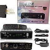 LEYF Tivusat DVB/S2+T2+C Receiver Combo Full HD 1080p IPTV Box (HDMI, LAN, 2X USB 2.0, Karte, AV) + HDMI Kabel und Tivusat Karte (Vorprogrammiert für Astra Hotbird und Türksat)