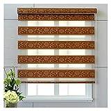 HAIPENG Klemmfix Duo Rollo, Lichtfilterung Rollos Aufrollen, Hand Heben Vorhang Zum Fenster Wohnzimmer Schlafzimmer, Bohrinstallation, Anpassbar (Color : Brown, Size : 110x150cm)