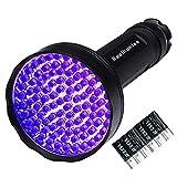 UV-Taschenlampe, 100 LEDs, UV-Taschenlampen mit gratis Batterien, super helle professioneller Schwarzlicht-getrockneter Haustierurin-Detektor für Hund, Katze, Skorpione, Jagd (100 LEDs)