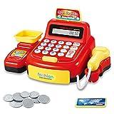 Lood Shop Accessories, Cash Box, Play Money, Kinderkasse Lernspielzeug mit Ton- und Lichteffekten
