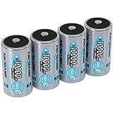 ANSMANN Akku D 10000 mAh NiMH 1,2 V (4 Stück) - Mono D Batterien wiederaufladbar, hohe Kapazität & maxE geringe Selbstentladung für hohen Strombedarf & jahrelangen Einsatz
