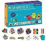 Smowo® Mega Bastelset Starterset - Bastelbox Mix - mit kreativen Bastelideen - Bunte Bastelbedarf Box zum basteln für Mädchen und Jungen