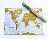 Rubbeln der Welt, Wandkarte von Castellano, 84 x 59 cm, Maps International