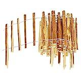 BOGATECO Haselnuss Roll-Steckzaun aus Holz   50cm Hoch & 500cm Lang   Holz-Zaun   Lattenabstand 7-8cm   Staketenzaun Perfekt als Beet-Umrandung oder Weg-Abgrenzung