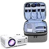 Luxja Beamertasche für Mini Beamer, Projektor Tasche Kompatibel mit APEMAN, QKK, DR.Q und Andere Mini- Beamer und Zubehör, 23 cm x 19 cm x 10 cm, G