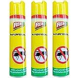 Reinex 3 x Wespenspray Wespenabwehr Wespenschutz Insektenstopp mit Sofort- und Langzeitwirkung
