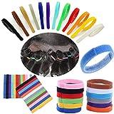 Sinfu Haustier-Halsband, 12 Farben zur Identifikation von Hunde/Katzen, Welpen, Katzen, Hunde, Katzen, 12 Stück, L, Mehrfarbig
