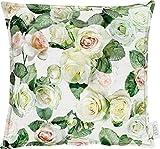 APELT Kissenhülle Summer Garden grün-weiß Größe 40x40 cm