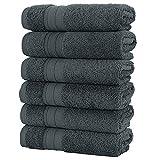 MARTYUP 6 x Handtücher, günstige und langlebige Baumwolltücher, mit einer Vielzahl von Farbfunktionen zur Auswahl. Gr. One size, B