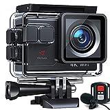 Victure AC700 Action Cam 4K 20MP wasserdichte 40M Unterwasserkamera WiFi helmkamera mit EIS Sensor, 2.4G Fernbedienung, externem Mikrofon und Montage Zubehö